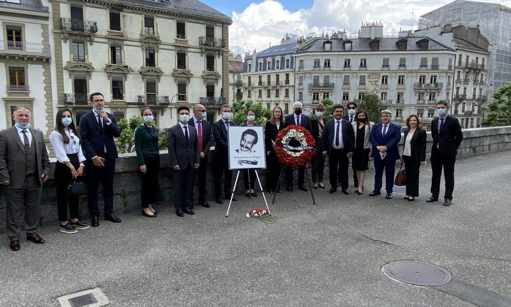1981'de şehit edilmişti: Diplomat Yergüz için Cenevre'de anma töreni düzenlendi