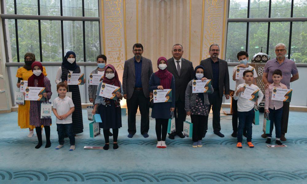 Dereceye giren öğrenciler ödüllendirildi: DİTİB bilgi yarışması