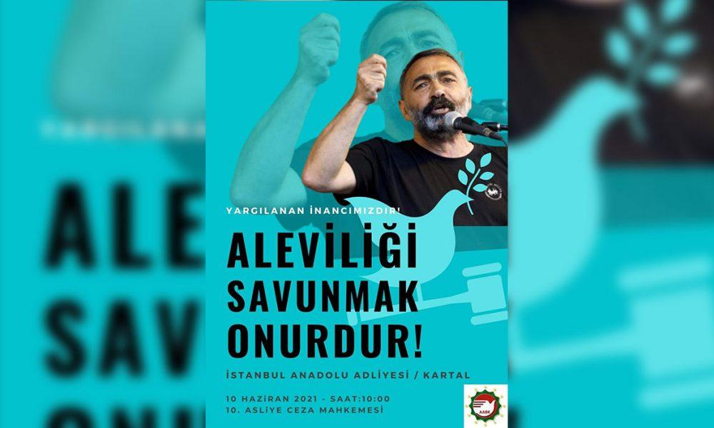 """AABK Onursal Başkanı Turgut Öker yargıç karşısında: """"Sadece Alevi olduğu için yargılanıyor"""""""