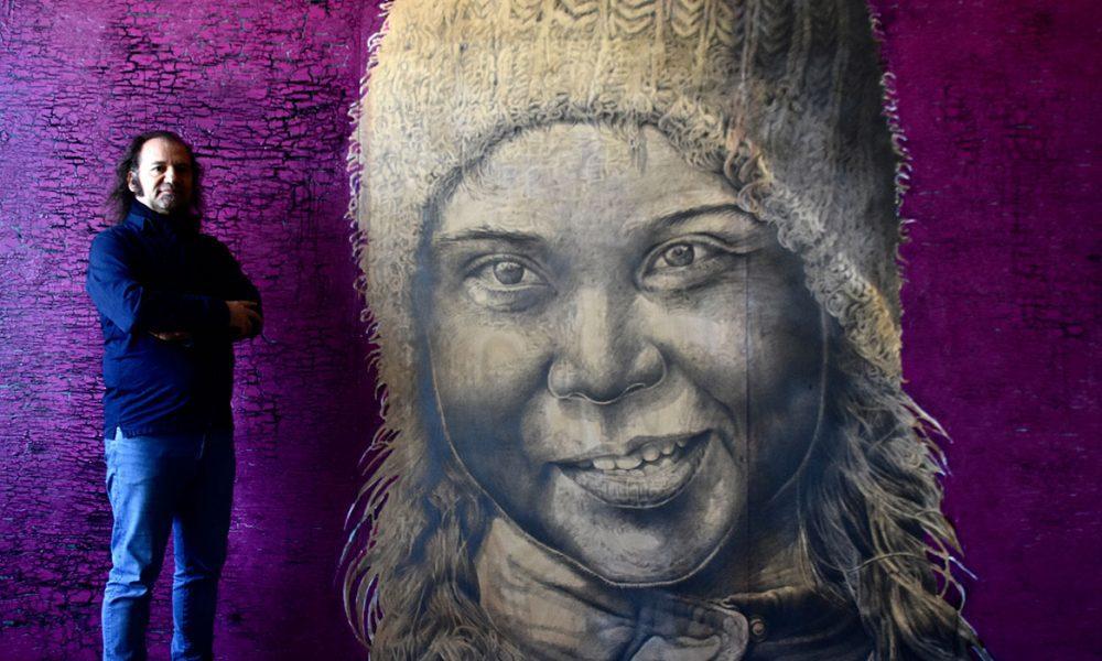 """Karlsruhe'de dev Greta tablolu sergi: Ressam Ali Zülfikar, bu kez """"Fridays for Future"""" hareketini işledi"""