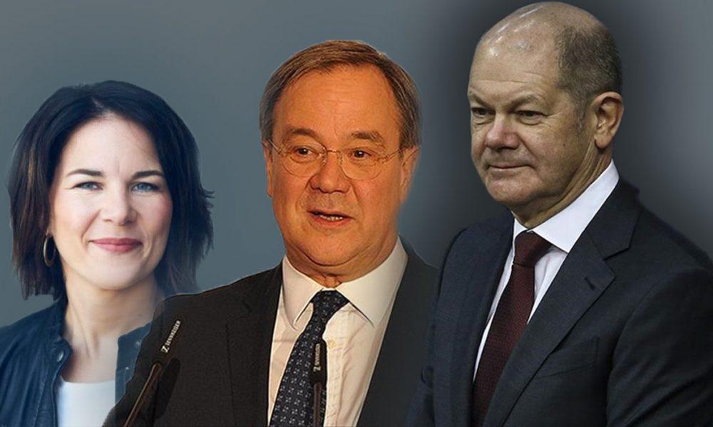 Olaf Scholz ve SPD televizyonda da önde: Üç partinin başbakan adayları tartıştı