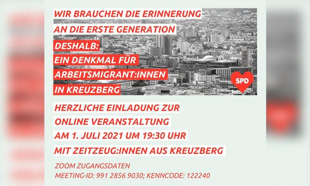 Berlin-Kreuzberg'de ilk kuşak Türk göçmenler için anıt çağrısı