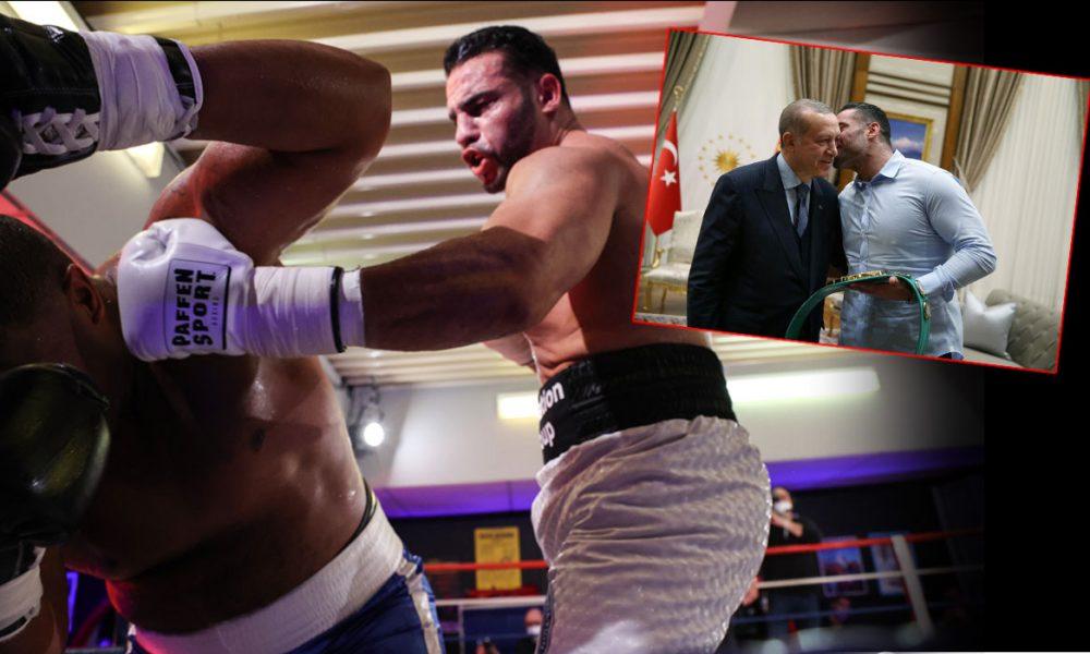 Türkiye hayranı boksör Mahmoud Charr, rakibini nakavt etti