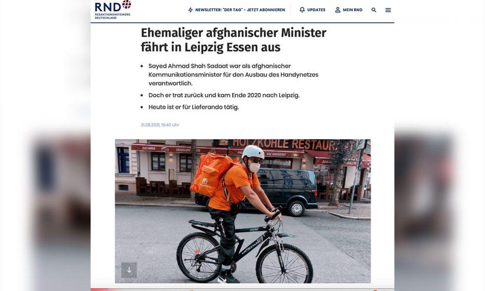 Nereden nereye: Afganistan'ın eski İletişim Bakanı Leipzig'de kuryelik yapıyor