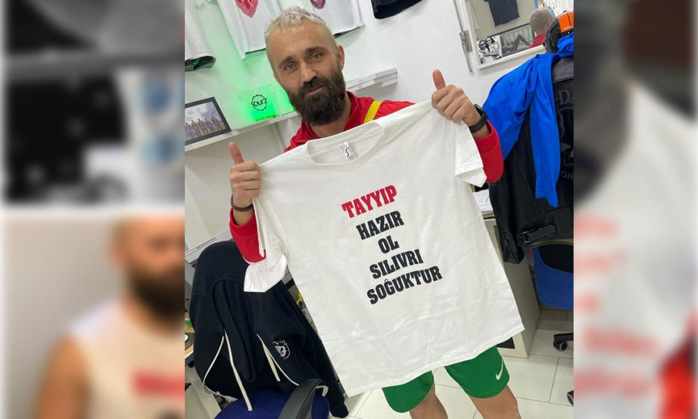 """Ünsal Arık'ın yeni tişörtü Erdoğan'ı çok kızdıracak: """"Silivri soğuktur"""""""