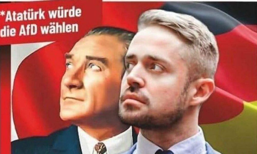 Tepki büyük: Alman ırkçıları Atatürk'ü kullanmaya kalktı, ortalık karıştı
