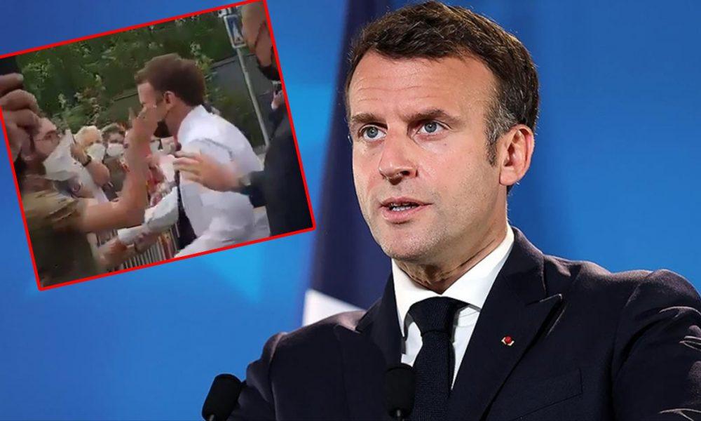 Macron'a atılan tokadın arka planı araştırılıyor: Sarı yelekliler mi?