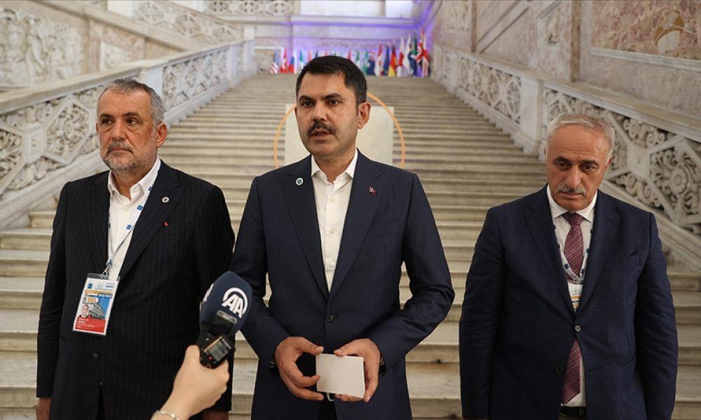 """Çevre Bakanı Kurum: """"İklim değişikliğiyle mücadelede işbirliğini istişare ettik"""""""