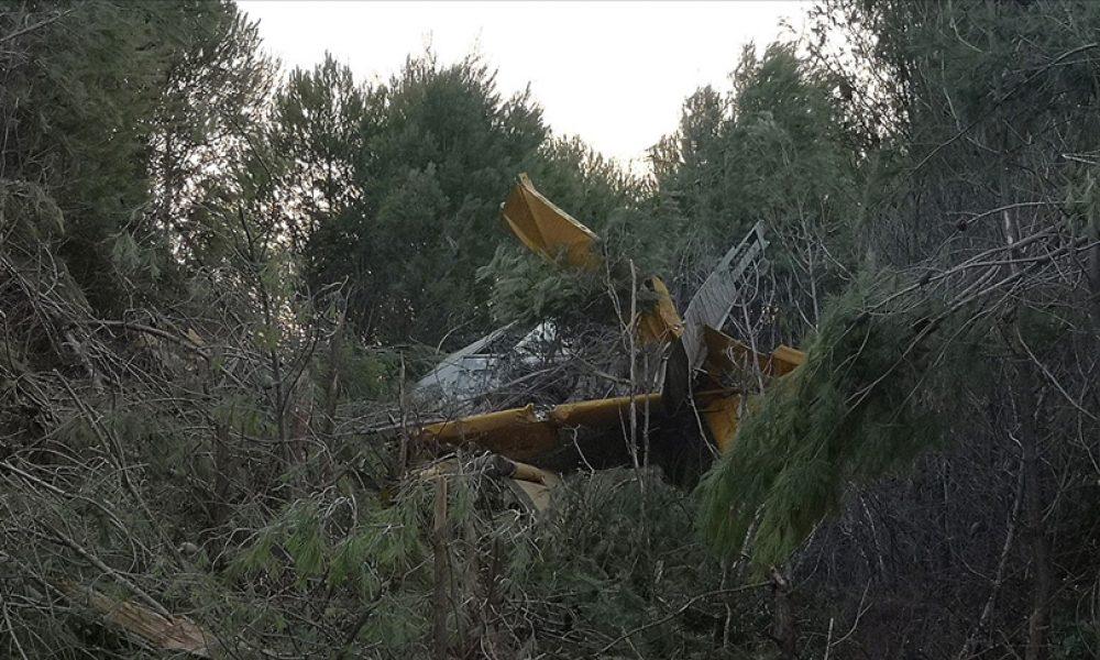Yunanistan'da yangın söndürme uçağı düştü: Pilot kurtuldu