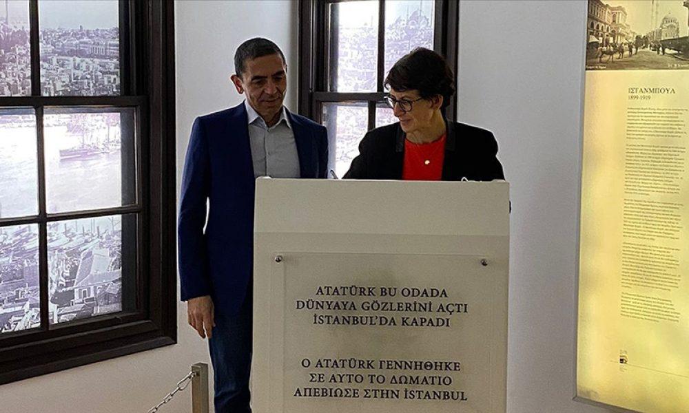 BioNTech'in kurucuları Türeci ve Şahin: Selanik'te Atatürk Evi'ni ziyaret ettiler