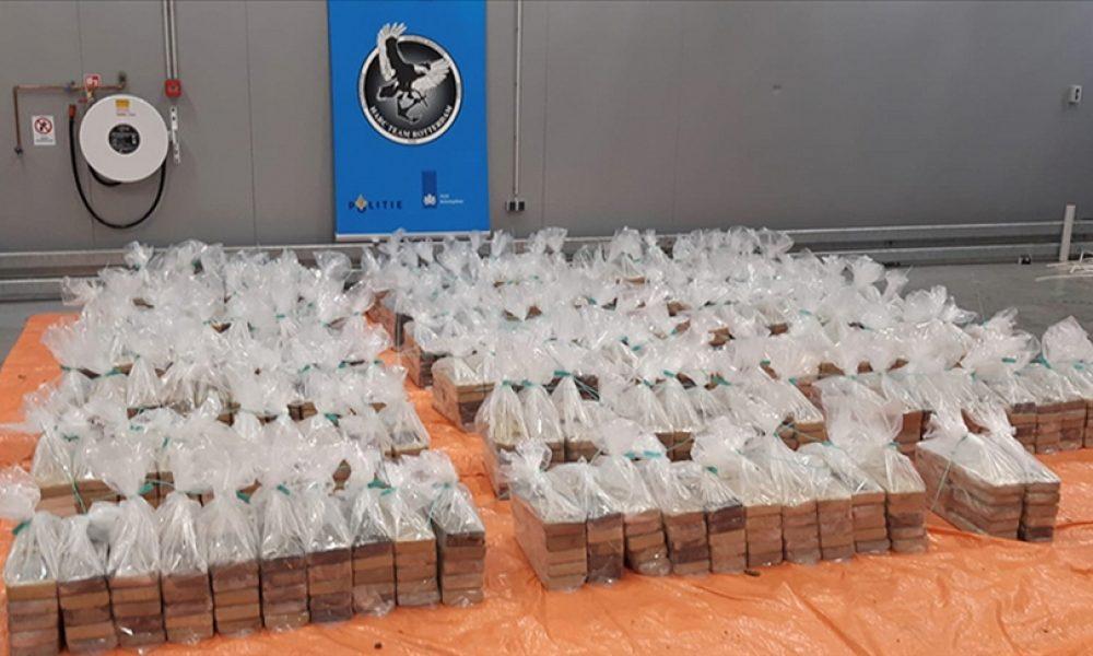 Rotterdam limanında 1 ton 760 kilo kokain ele geçirildi