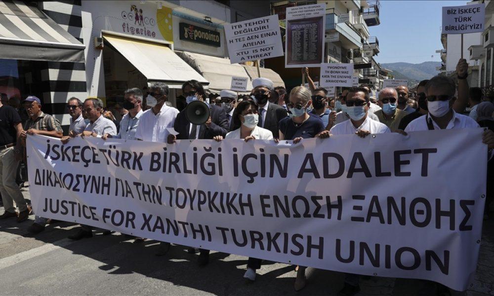 İskeçe Türk Birliği'nden hak ve adalet eylemi